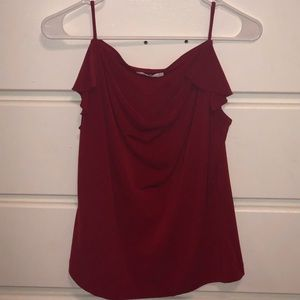 red flirty blouse perfect for accentuating